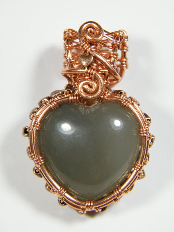 Large woven wraped natural green Agate by NoStoneLeftUnturned, $32.00