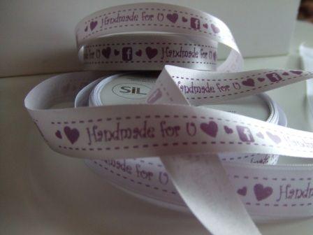 Double Face Satin Ribbon - Ribbon Print