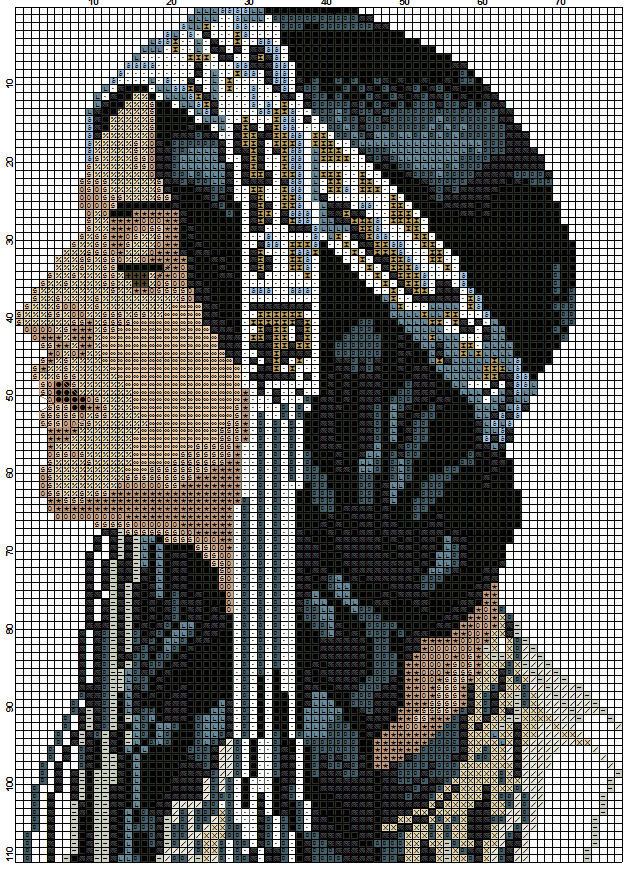Cross Stitch Chart Pattern Eagle Maiden