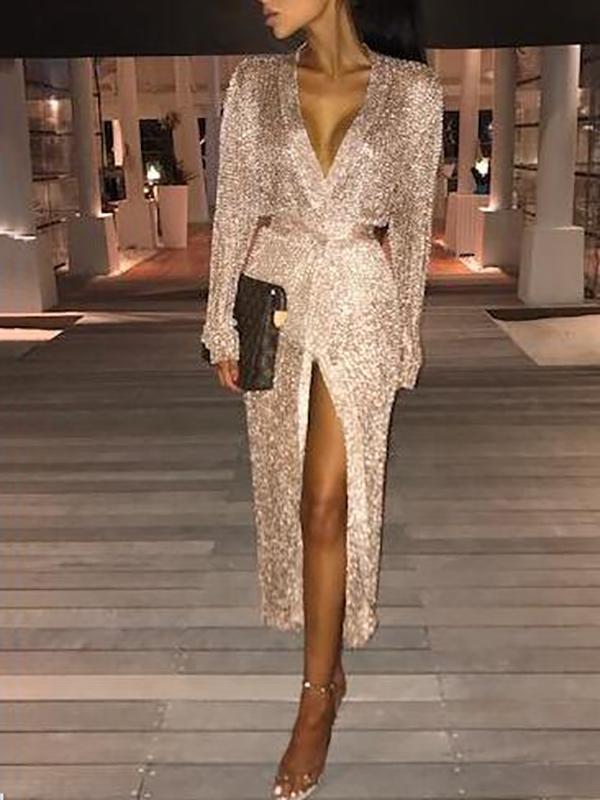 Temperament Cardigan Slim Evening Dress