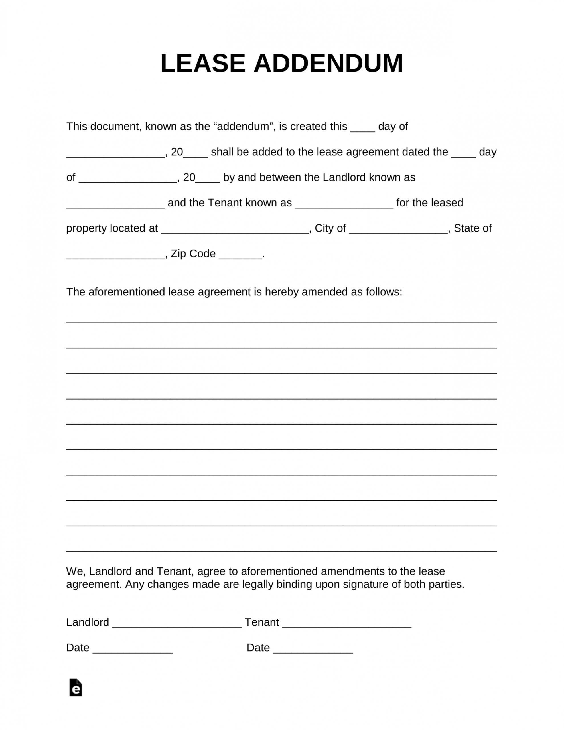 Explore Our Sample Of Addendum To Lease Agreement Template Lease Agreement Rental Agreement Templates Purchase Agreement