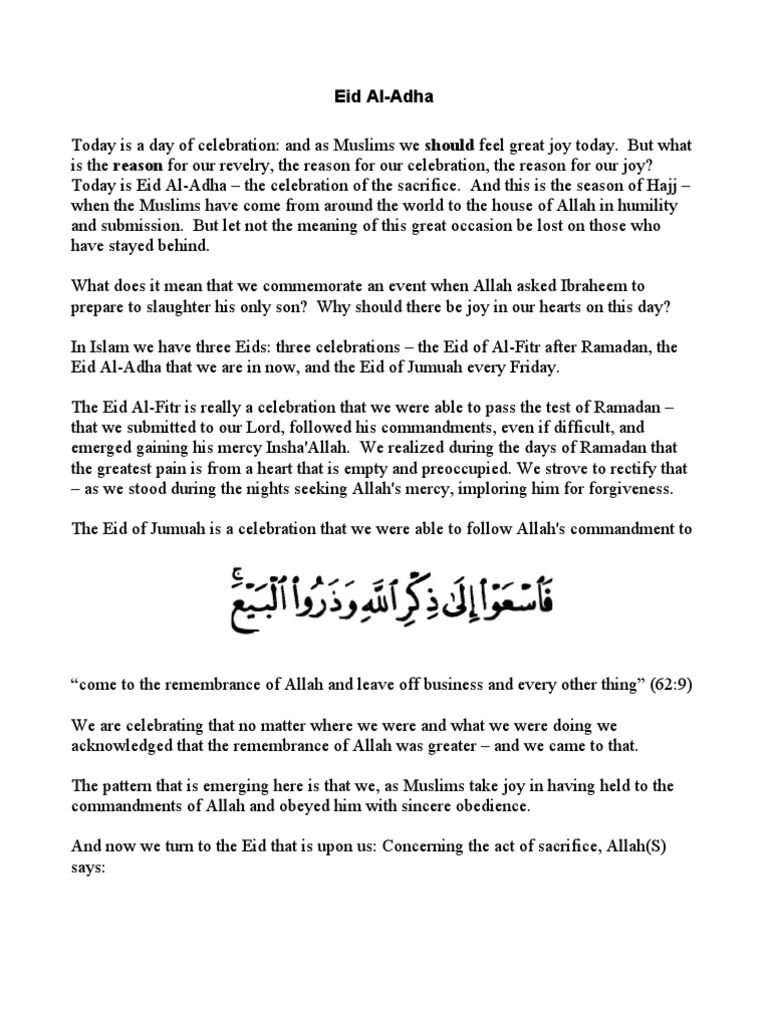 Friday Khutbah In English Pdf