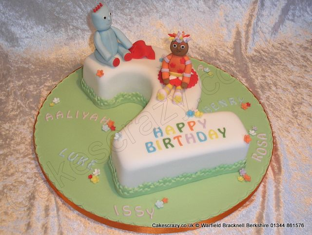 Number 2 Iggle Piggle Cake Number Two Shaped Birthday Cake With