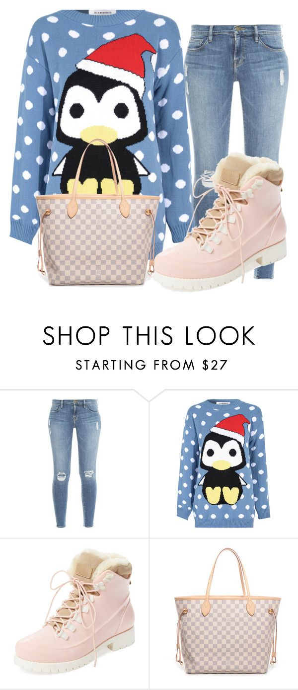 """""""Cute & Chic"""" by khathylee on Polyvore featuring Frame Denim, Glamorous, Australia Luxe Collective and Louis Vuitton"""