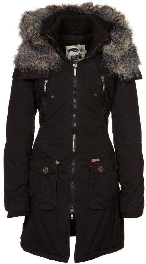 821ab9c2 khujo ROSSA PLAIN Winter coat black | Outerwear Mens/Ladies | Black ...