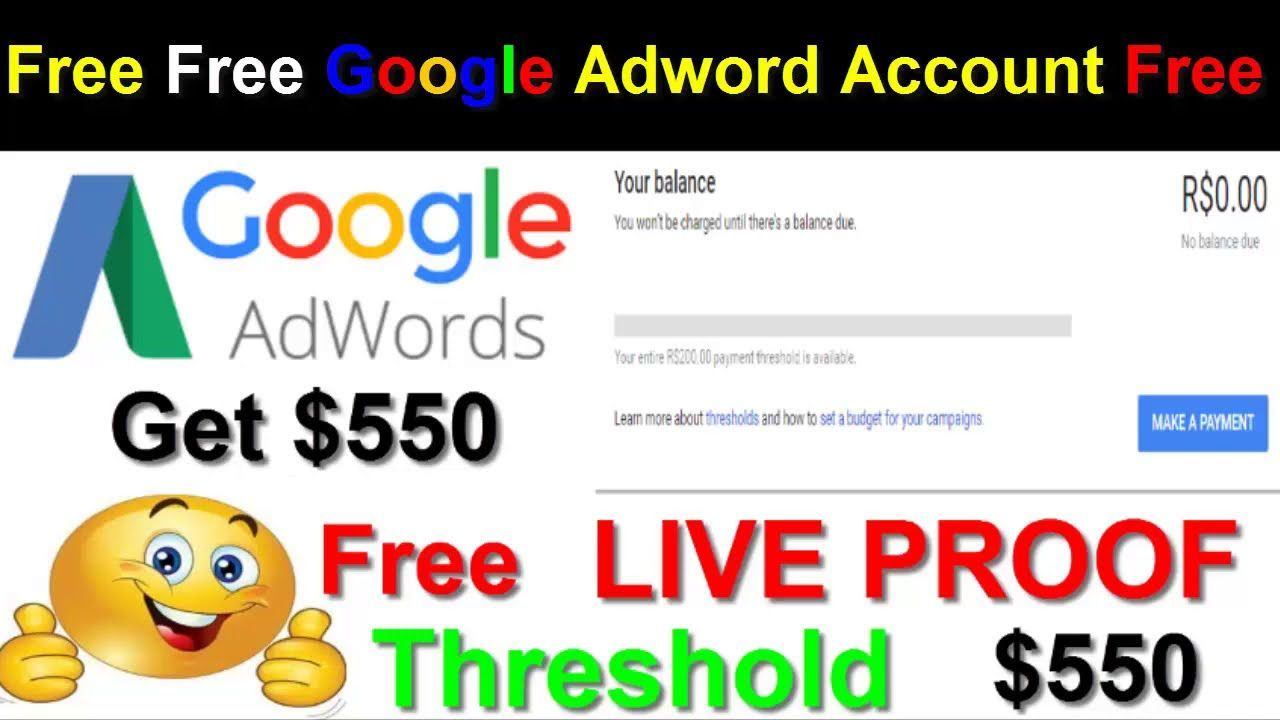 Google Adwords 500 Threshold Trick Free Free Google Adword Account Free Google Adwords Ideas Of House Buying Process Google Adwords Adwords Google Ads