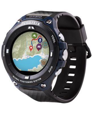 baeaaa47ff6c G-Shock Men s Gps Pro Trek Black Resin Strap Touchscreen Smart Watch 61.7mm  - Black