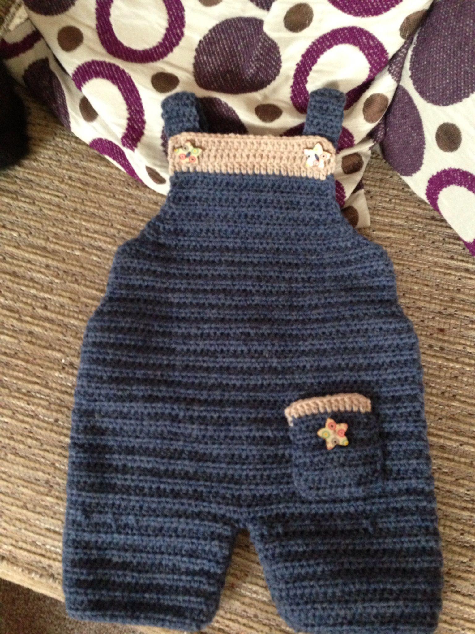 Boys crochet dungarees Crochet & Knitting Pinterest