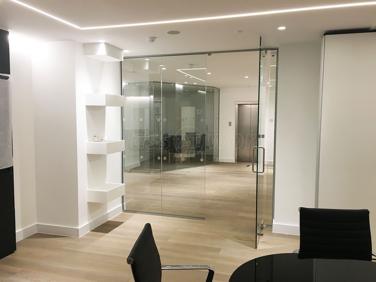 contemporary glass office. From Glass At Work: Contemporary Corner Office For London Villa Ltd In London. H