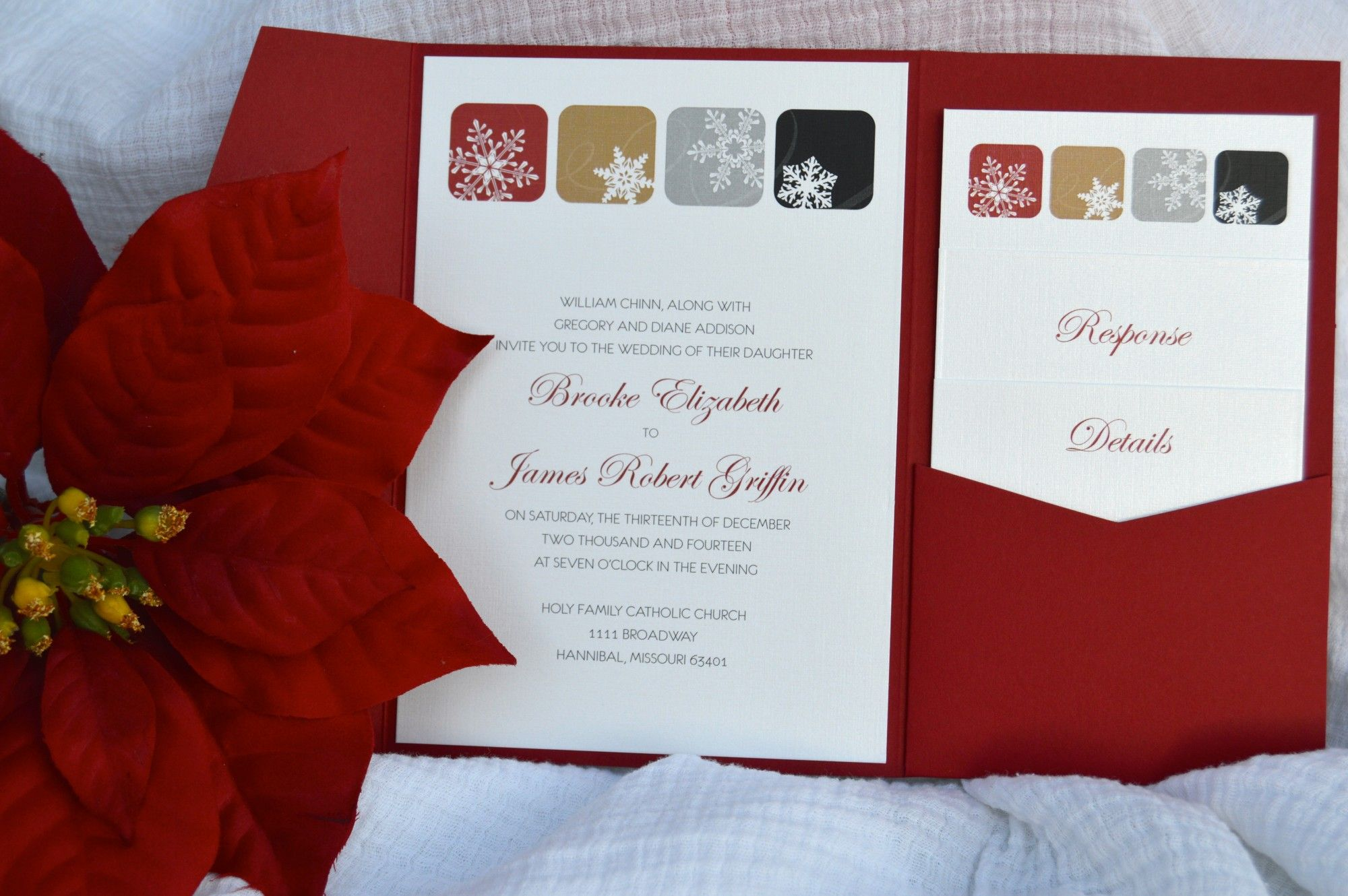 Winter snowflake wedding invitations by Something Printed {www.something-printed.com}
