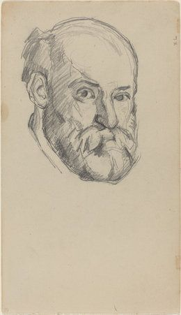 Vintage Pencil Drawing Art Drawings Portrait Paul Cézanne...