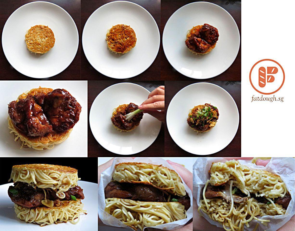 Cantonese Soy Sauce Chicken Ramen Burger Soy sauce