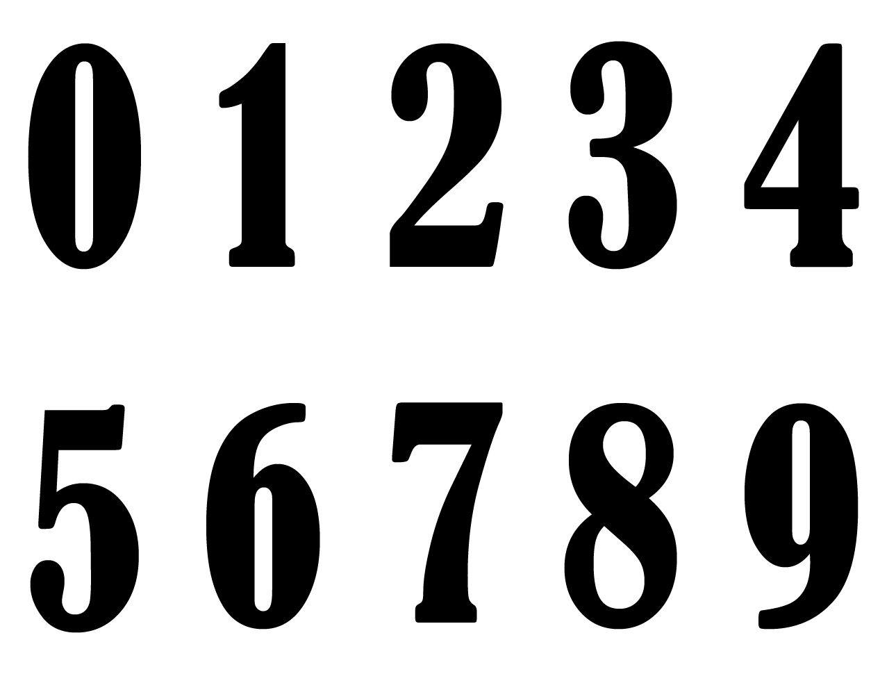 Plantillas de números para imprimir - Imagui | Manualidades ...