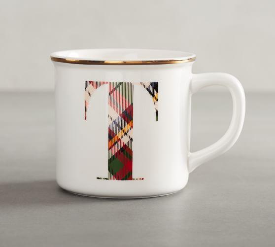Plaid Alphabet Mug: Alphabet Mugs, Mugs, Special Gifts