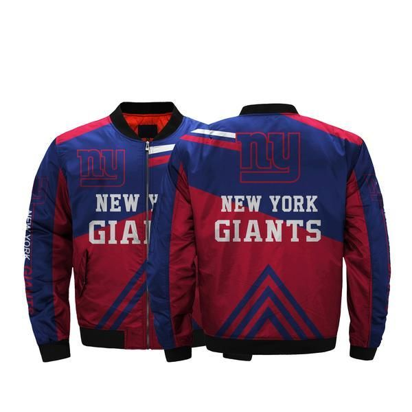 6c4667ce NFL Jacket Men 3D Fullprint Jacket New York Giants Bomber Jacket For ...