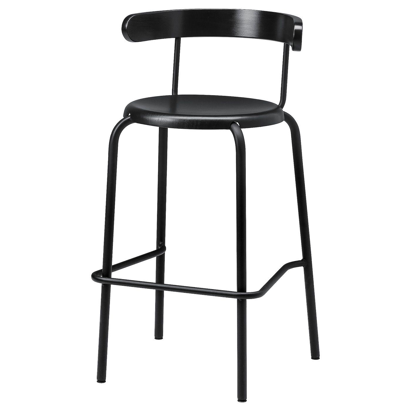 Yngvar Bar Stool Anthracite Ikea In 2020 Bar Stools Ikea Bar Stool