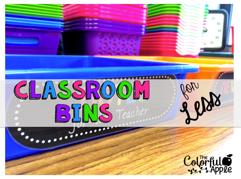 The Colorful Apple: Classroom Storage For Less