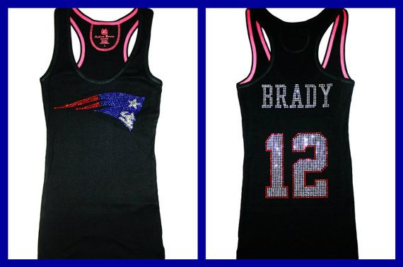 save off df397 0f425 New England Patriots Tom Brady Bling Sparkle Jersey by ...