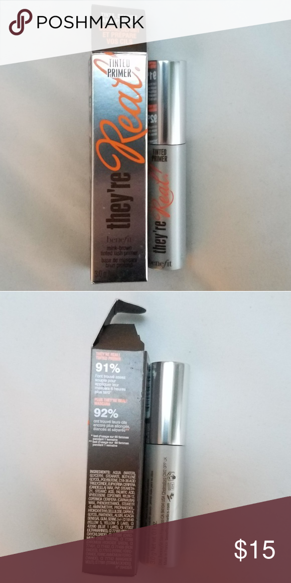 5ef0bdb5b41 NIB Benefit They're Real Tinted Eye Primer .3 oz ▫BRAND NEW IN BOX (Never  Used) ▫Perfect Travel Size ♡ ▫BUNDLE To Save! Benefit Makeup Eye Primer