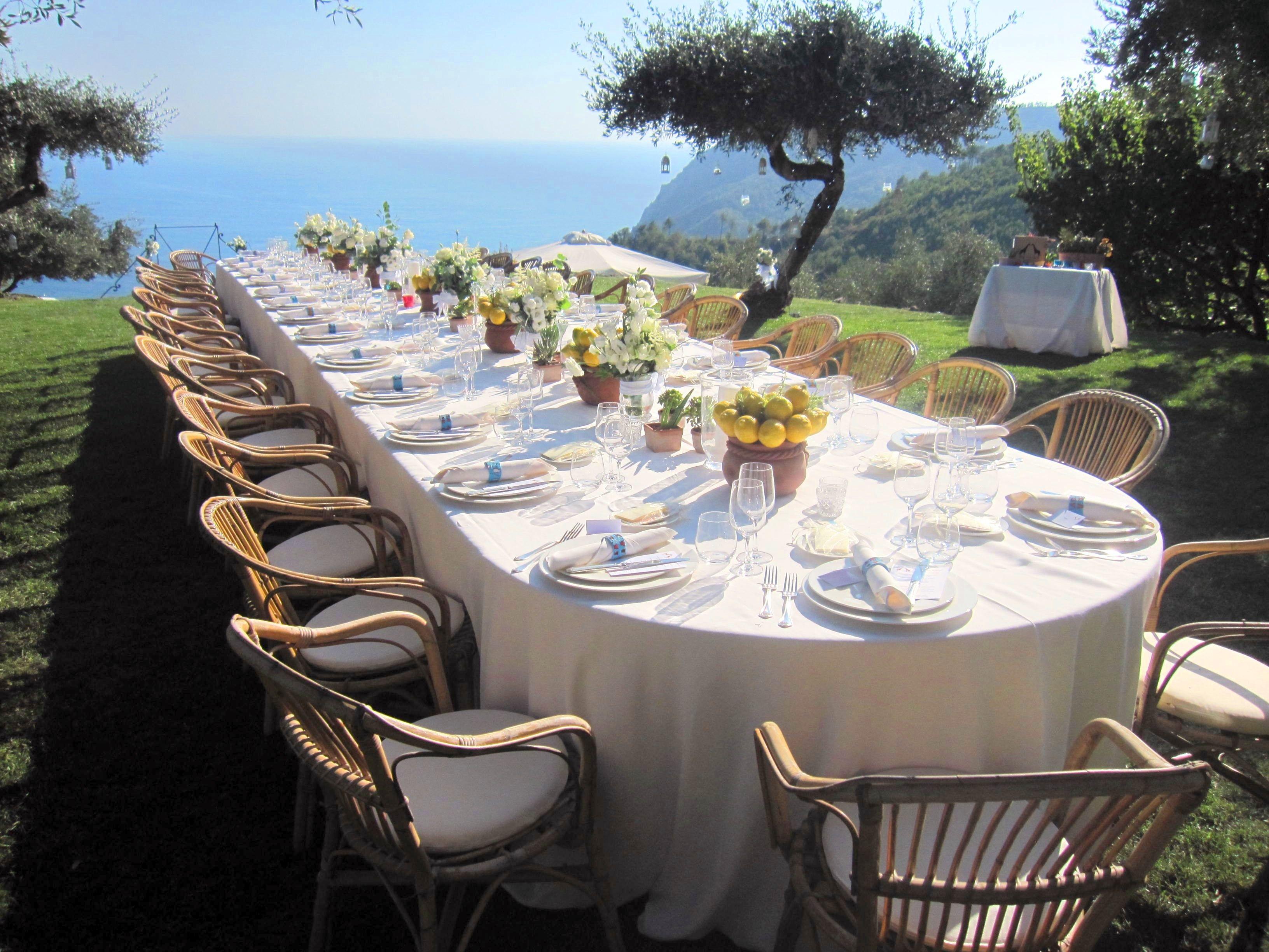 Lemon Table Centrepiece Wedding By Cinque Terre