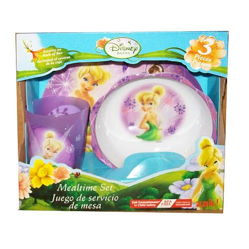 Disney Fairies 3-Piece Dinner Set - Tinker Bell - Zak Designs - Toys    sc 1 st  Pinterest & Disney Fairies 3-Piece Dinner Set - Tinker Bell - Zak Designs - Toys ...