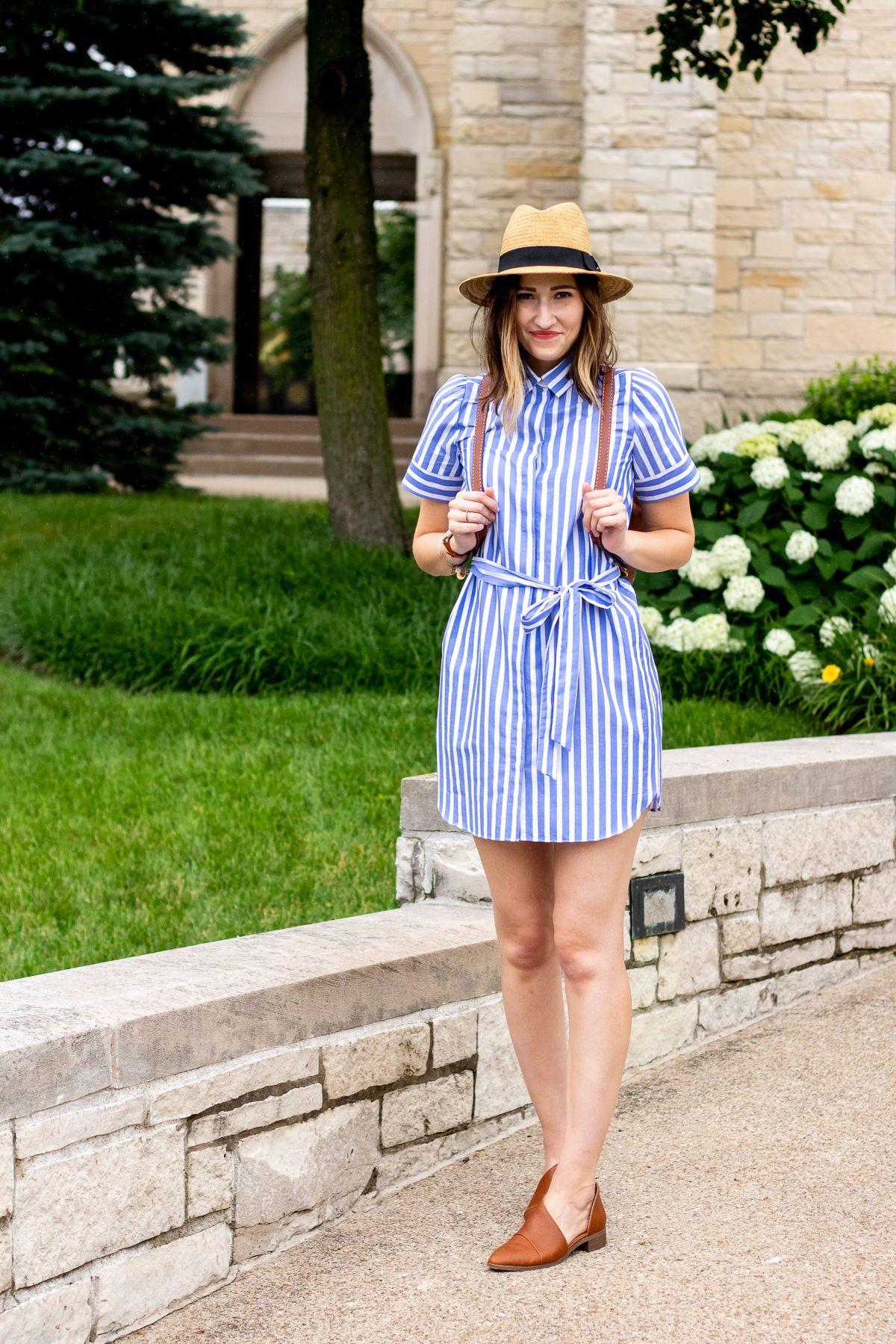 Current Crush Shirt Dresses Girl Meets Stripes Womens Winter Fashion Outfits Shirt Dress Classy Dress [ 1800 x 1200 Pixel ]