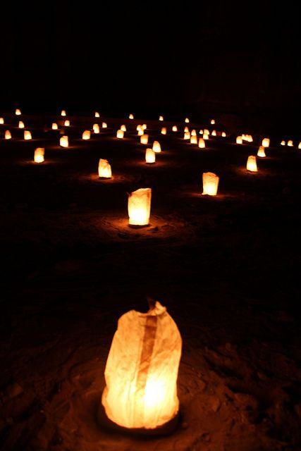 Tea Lights In Brown Paper Bags Petra