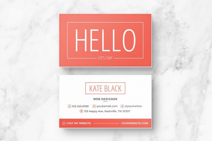Business card template spark card templates business cards and spark is a bright modern business card design that packs a punch reheart Image collections