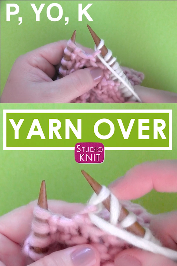 Photo of Knit a Yarn Over After a Purl Stitch