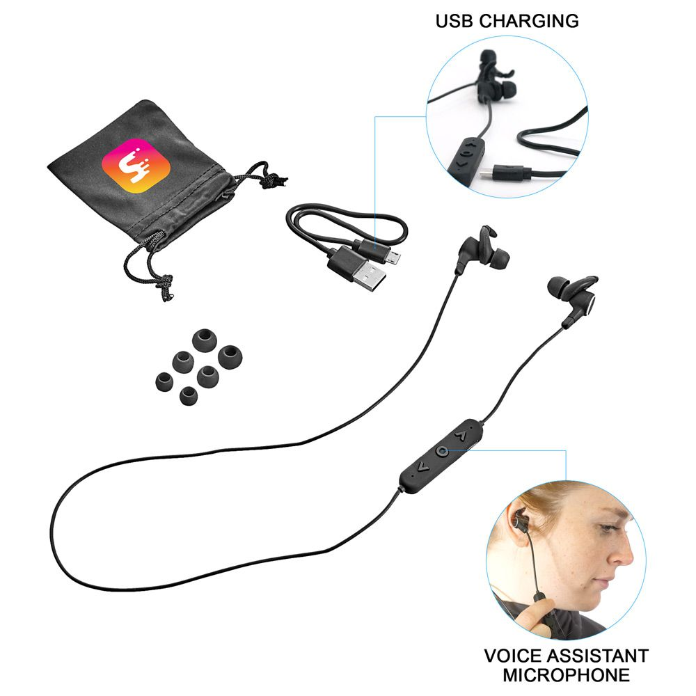 The Noble Bluetooth Earbuds with Voice Assistant are the