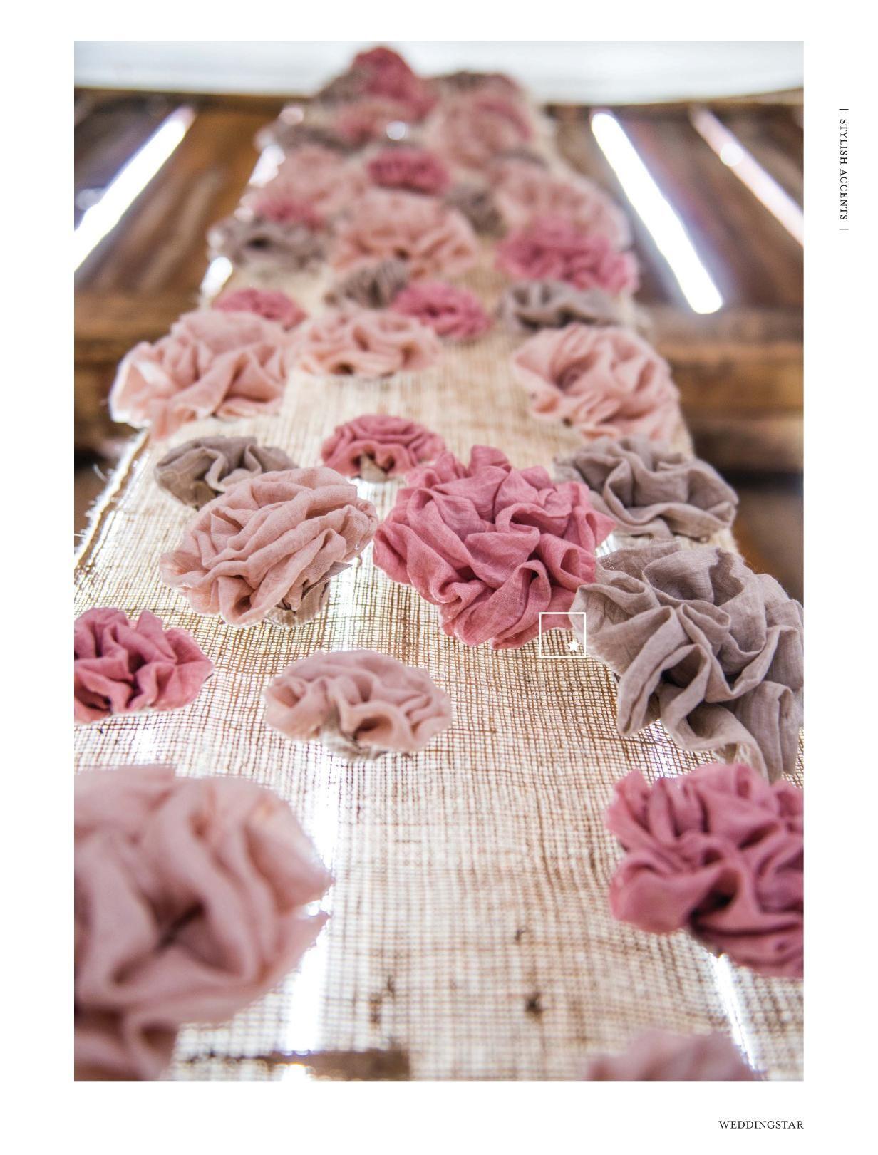 Rustikale Deko aus selbstgemachten Blüten