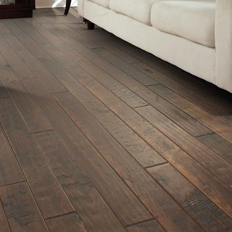 This amazing wide plank hickory floor is truly a
