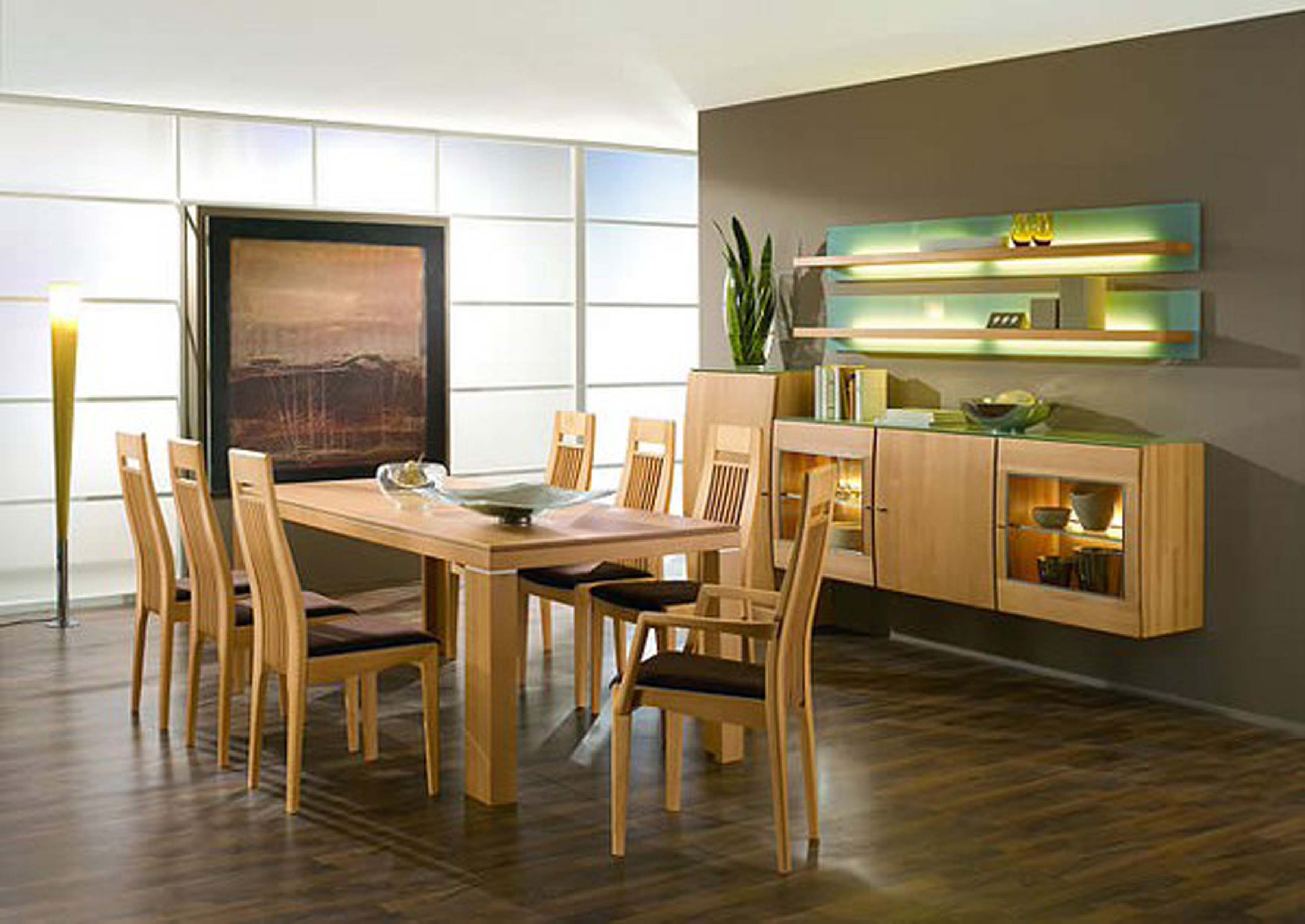 Kitchen Wooden Dining Room Table Design Ideas For Minimalist With Laminate Flooring Wall Units