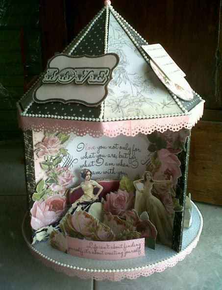 """Carousel Of Love"" using Kaiser Craft The Lake House"