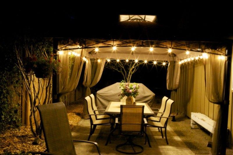 Outdoor Gazebo Lighting Glamorous Gazebo Lights  Yahoo Image Search Results  Exterior Lighting Ideas 2018