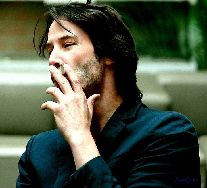Groovy Keanu Reeves Smoking Just For The Photo Pinterest Keanu Hairstyles For Women Draintrainus
