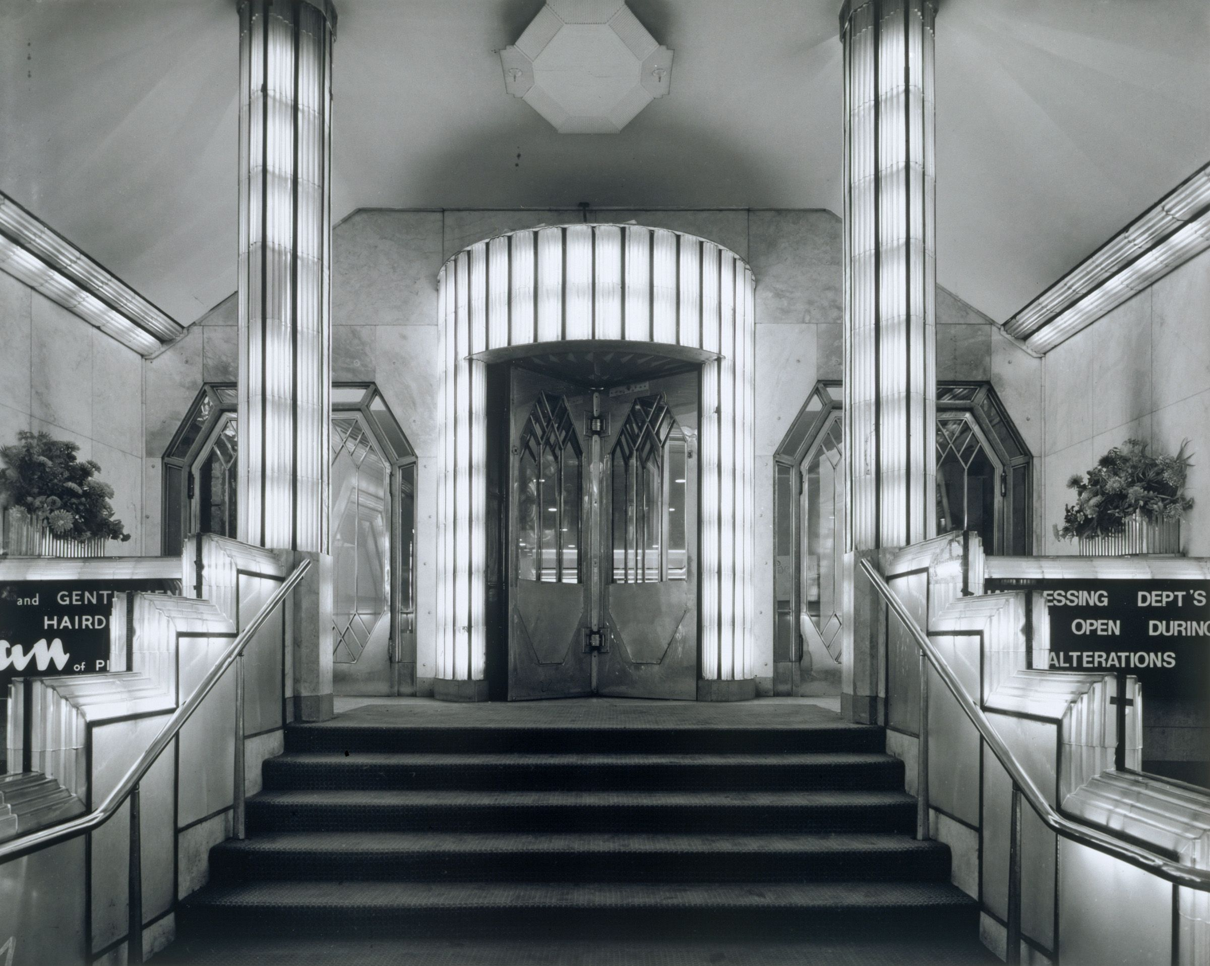Art Deco Foyer : Foyer from the strand palace hotel glass chrome
