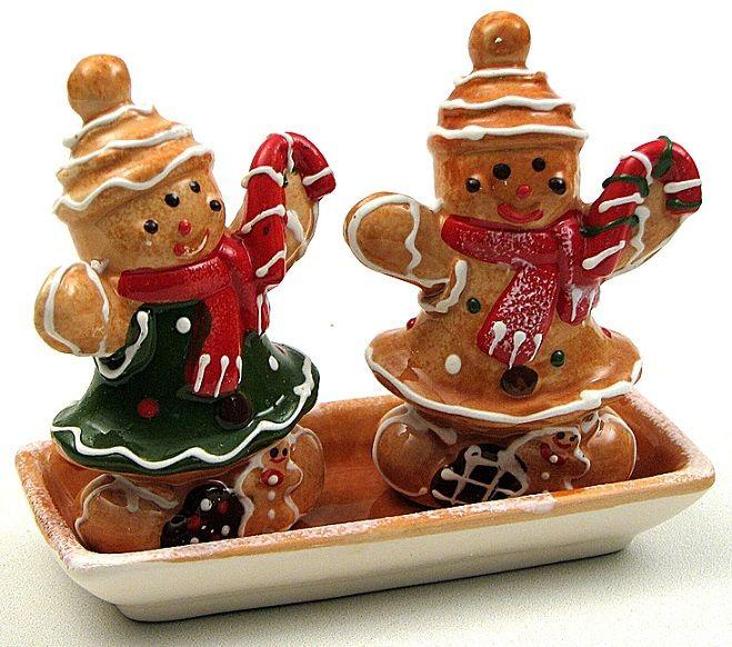 gingerbread man salt & peppers
