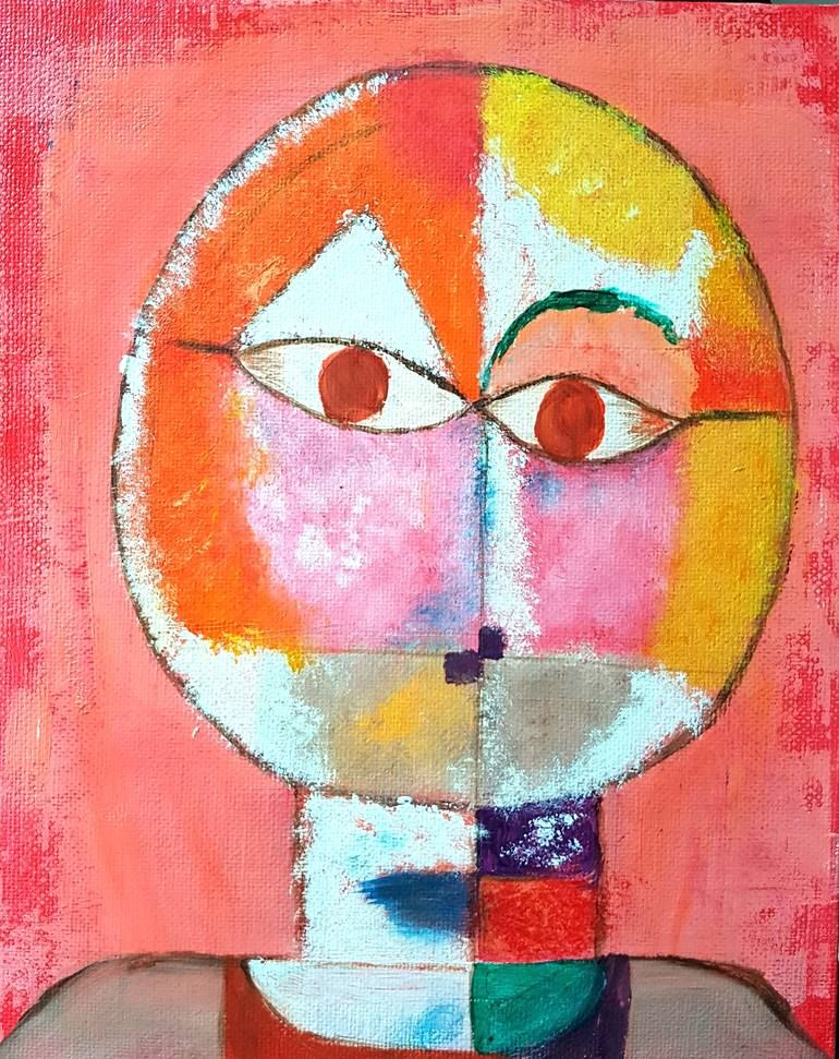 Photo of Original Portrait Painting by Nimisha Doongarwal   Abstract Art on Canvas   Paul Klee's Old Man
