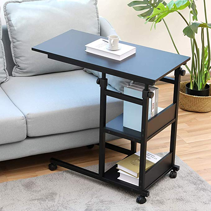 Amazon Com Side Table With Castors Bonzy Home Snack Side Table