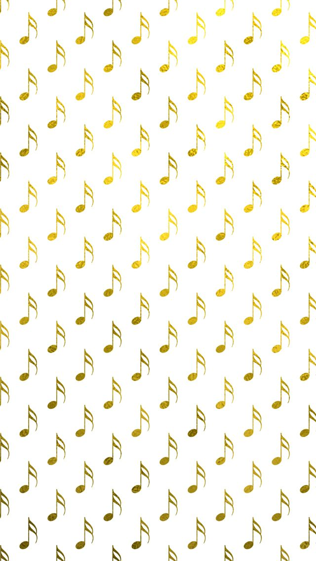 Gold Foil Musical Notes IPhone 5 Wallpaper And 6