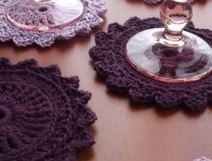 "PODLOŠCI coasters ""Purple rain""-mix 6 kom. | OMNIS ART - handmade"