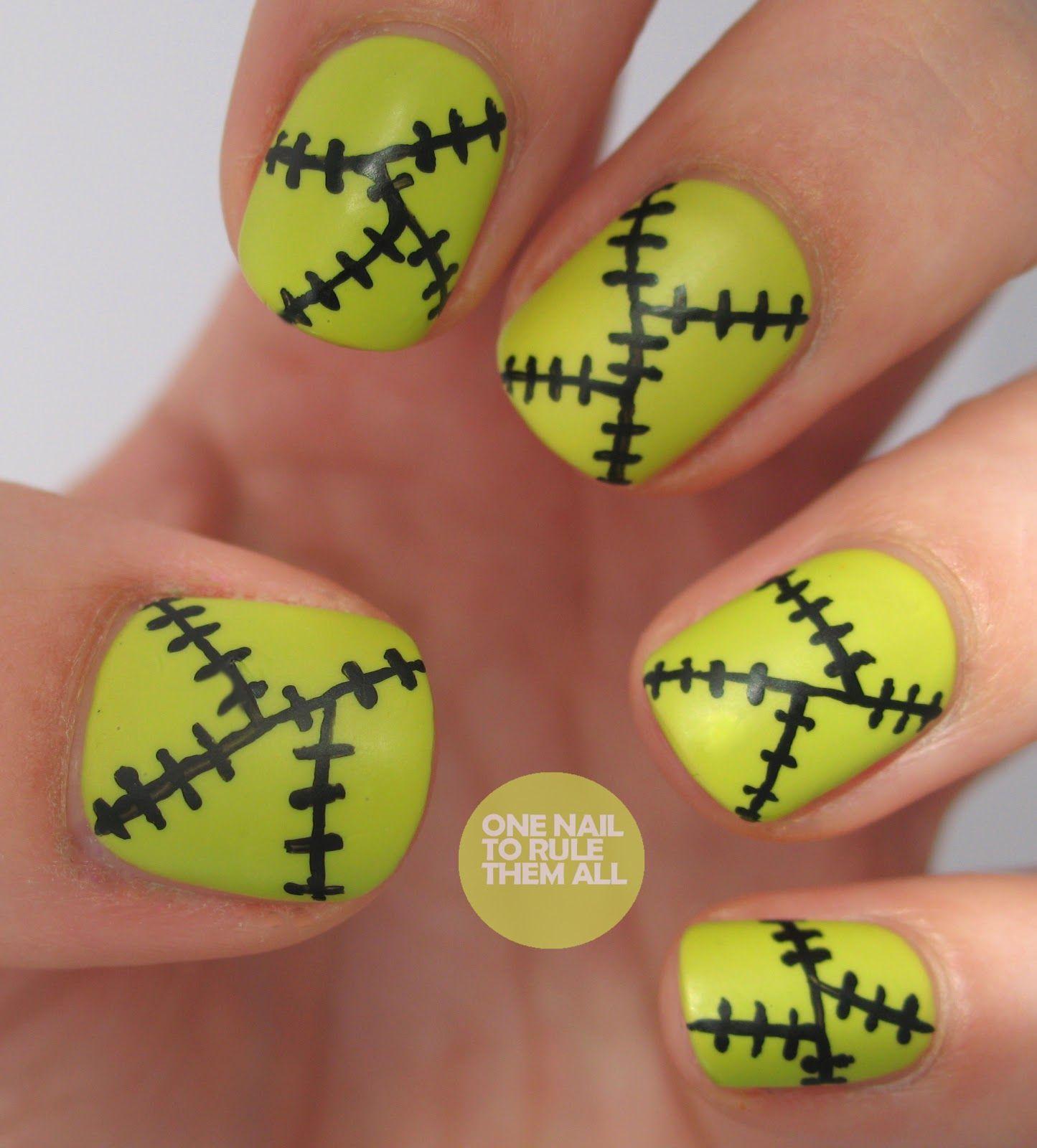 Frankenstein Halloween Nails #Halloween #HalloweenNails ...