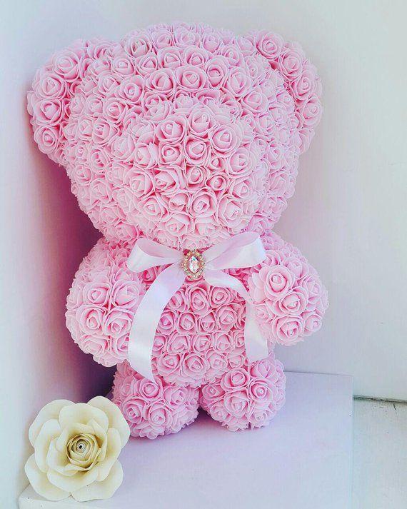 Rose Teddy Bear 17 8 Inch Forever Rose Teddy Bear Wedding Gifts Love Bear Flower Rose Bear Rose Forever Rose Mother Day Gifts Animal Flower Arrangements