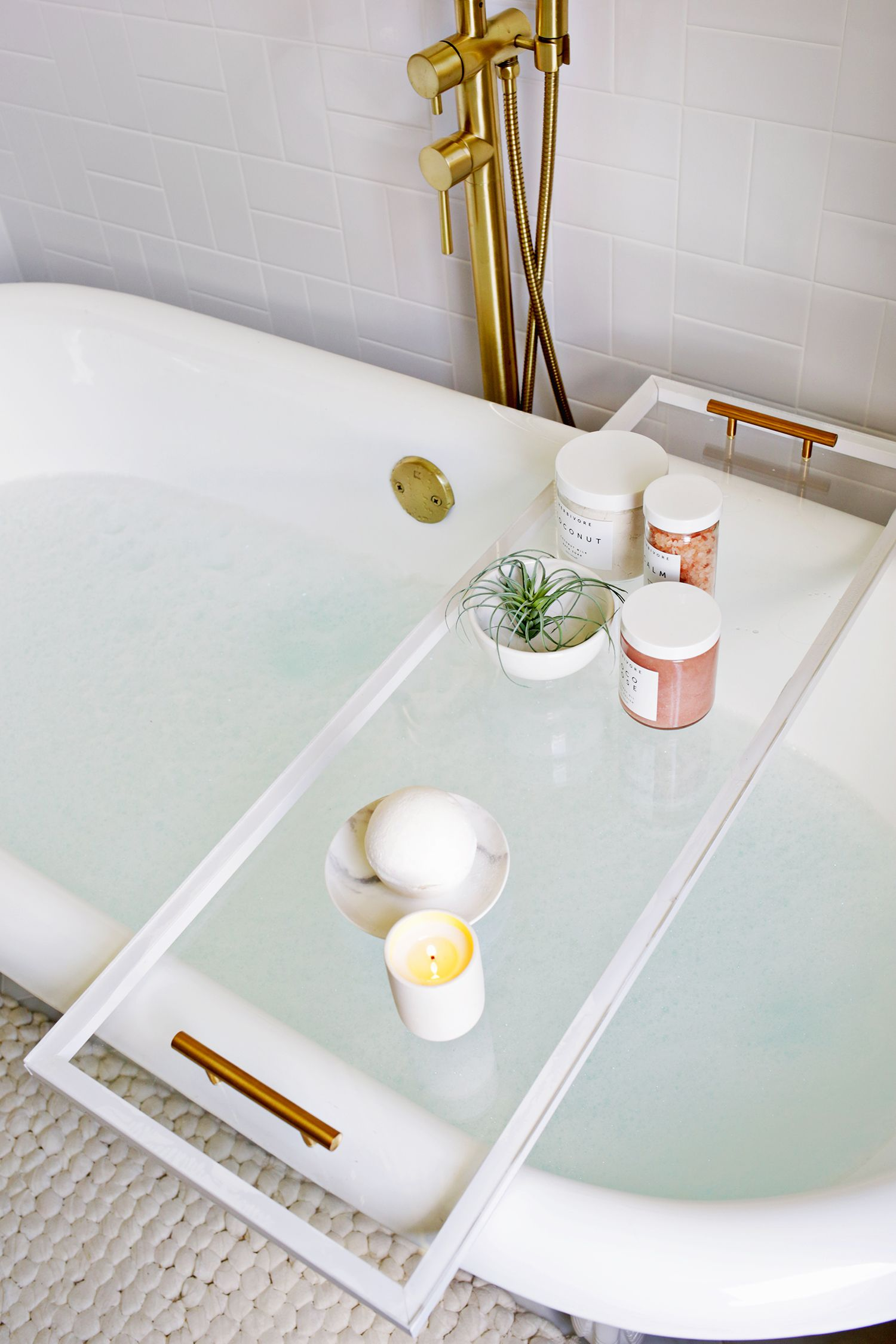 Lucite Bathtub Caddy DIY | Pinterest | Bathtub caddy, Bathtubs and ...