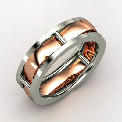 Totally custom and completely unique mens wedding bands