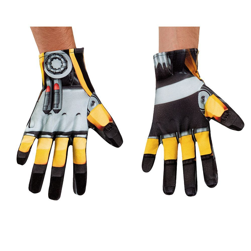 Age of extinction transformers bumblebee adult costume gloves