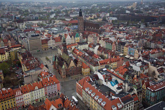 Wrocławski Rynek z lotu ptaka (fot. .facebook.com/wroclaw.wroclove).