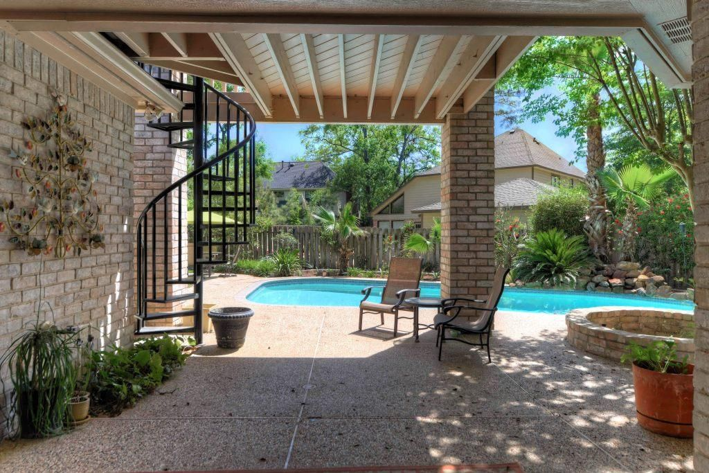 Best Covered Patio With Spiral Staircase Leading To Covered 640 x 480