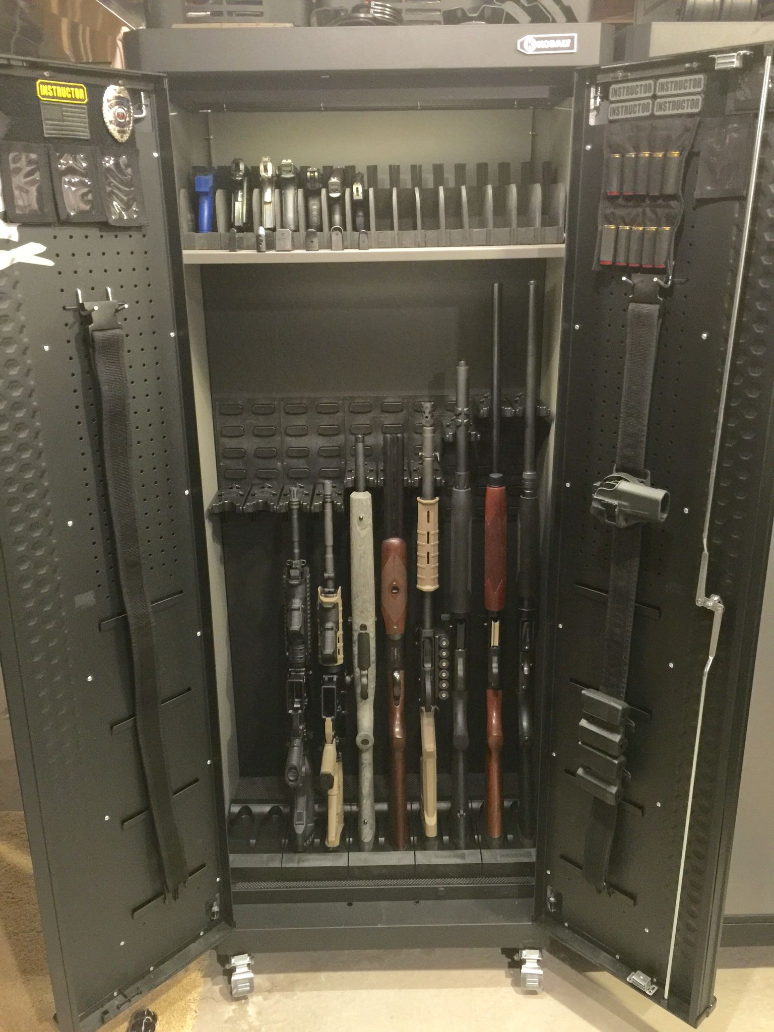 Stock On Gun Cabinet Some Updates For My Gun Cabinet Kobalt Garage Cabinet Custom 15